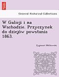 W Galicji I Na Wschodzie. Przyczynek Do Dziejo W Powstania 1863.