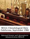 Noaa Climatological Data: California, September 1988