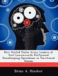 How United States Army Leaders at Fort Leavenworth Performed Peacekeeping Operations in Territorial Kansas
