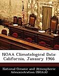Noaa Climatological Data: California, January 1966