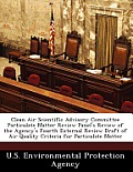 Clean Air Scientific Advisory Committee Particulate Matter Review Panel's Review of the Agency's Fourth External Review Draft of Air Quality Criteria