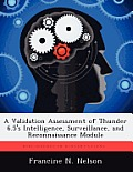 A Validation Assessment of Thunder 6.5's Intelligence, Surveillance, and Reconnaissance Module