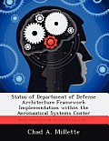 Status of Department of Defense Architecture Framework Implementation Within the Aeronautical Systems Center