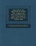 Description Des Machines Et Proc D S Pour Lesquels Des Brevets D'Invention Ont T Pris Sous Le R Gime de La Loi Du 5 Juillet 1844