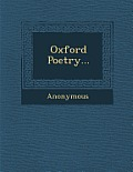 Oxford Poetry...