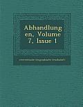 Abhandlungen, Volume 7, Issue 1