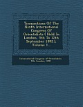 Transactions of the Ninth International Congress of Orientalists ( Held in London, 5th to 12th September 1892.), Volume 1...