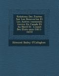 Relations Des J Suites Sur Les D Couvertes Et Les Autres V Nements Arriv S En Canada Et Au Nord Et L'Ouest Des Etats-Unis (1611-1672)