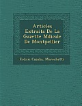 Articles Extraits de La Gazette M Dicale de Montpellier