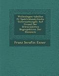 Wellenl Ngen-Tabellen Fur Spektralanalytische Untersuchungen Auf Grund Der Ultravioletten Bogenpektren Der Elemente