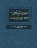 Id E D'Une R Publique Heureuse: Ou L'Utopie de Thomas Morus ...: Contenant Le Plan D'Une R Publique Dont Les Loix, Les Usages & Les Co Tumes Tendent U
