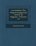 Amtsblatt Des Regierungspr Sidenten in Oppeln, Volume 12