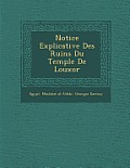 Notice Explicative Des Ruins Du Temple de Louxor