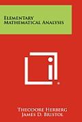 Elementary Mathematical Analysis