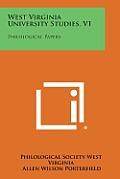 West Virginia University Studies, V1: Philological Papers