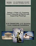 Nelson V. Potts U.S. Supreme Court Transcript of Record with Supporting Pleadings