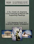 U S V. Cook U.S. Supreme Court Transcript of Record with Supporting Pleadings