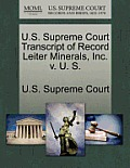 U.S. Supreme Court Transcript of Record Leiter Minerals, Inc. V. U. S.
