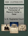 U.S. Supreme Court Transcript of Record Carter V. Gear