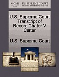 U.S. Supreme Court Transcript of Record Chater V Carter