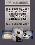 U.S. Supreme Court Transcript of Record Board of Public Utility Com'rs V. Ynchausti & Co