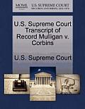 U.S. Supreme Court Transcript of Record Mulligan V. Corbins