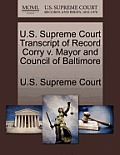 U.S. Supreme Court Transcript of Record Corry V. Mayor and Council of Baltimore