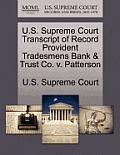 U.S. Supreme Court Transcript of Record Provident Tradesmens Bank & Trust Co. V. Patterson