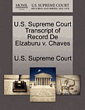 U.S. Supreme Court Transcript of Record de Elzaburu V. Chaves