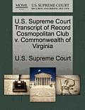 U.S. Supreme Court Transcript of Record Cosmopolitan Club V. Commonwealth of Virginia