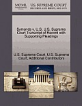 Symonds V. U.S. U.S. Supreme Court Transcript of Record with Supporting Pleadings
