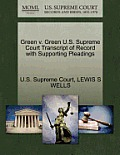 Green V. Green U.S. Supreme Court Transcript of Record with Supporting Pleadings