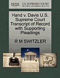 Hand V. Davis U.S. Supreme Court Transcript of Record with Supporting Pleadings