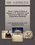 Rand V. National Bank of Newport U.S. Supreme Court Transcript of Record with Supporting Pleadings