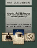 Mickadiet V. Fall U.S. Supreme Court Transcript of Record with Supporting Pleadings