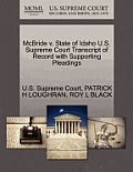 McBride V. State of Idaho U.S. Supreme Court Transcript of Record with Supporting Pleadings