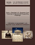 Davis V. Baechtel U.S. Supreme Court Transcript of Record with Supporting Pleadings