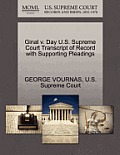 Ginal V. Day U.S. Supreme Court Transcript of Record with Supporting Pleadings