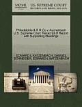 Philadelphia & R R Co V. Auchenbach U.S. Supreme Court Transcript of Record with Supporting Pleadings