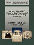 Baltzell V. Mitchell U.S. Supreme Court Transcript of Record with Supporting Pleadings