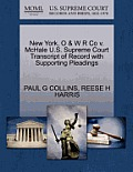 New York, O & W R Co V. McHale U.S. Supreme Court Transcript of Record with Supporting Pleadings