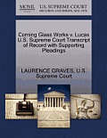 Corning Glass Works V. Lucas U.S. Supreme Court Transcript of Record with Supporting Pleadings