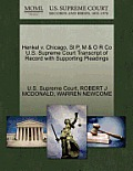 Henkel V. Chicago, St P, M & O R Co U.S. Supreme Court Transcript of Record with Supporting Pleadings