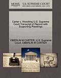 Carter V. Woodring U.S. Supreme Court Transcript of Record with Supporting Pleadings