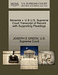 Nimerick V. U S U.S. Supreme Court Transcript of Record with Supporting Pleadings