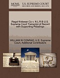 Regal Knitwear Co V. N L R B U.S. Supreme Court Transcript of Record with Supporting Pleadings