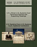 U S V. Brown U.S. Supreme Court Transcript of Record with Supporting Pleadings