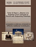 Tinker & Rasor V. Stearns U.S. Supreme Court Transcript of Record with Supporting Pleadings