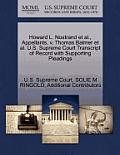Howard L. Nostrand et al., Appellants, V. Thomas Balmer et al. U.S. Supreme Court Transcript of Record with Supporting Pleadings