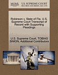 Robinson V. State of Fla. U.S. Supreme Court Transcript of Record with Supporting Pleadings